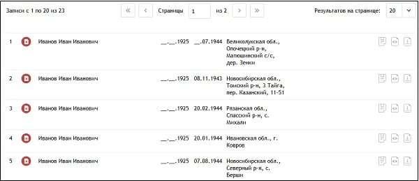 Поиск ветеранов ВОВ по фамилии (Великой Отечественной войны) в 2020 году - архив, мемориал, по наградам